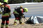 Feuerwehr bei gestürztem MotoE-Motorrad