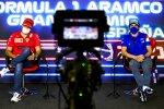 Carlos Sainz (Ferrari) und Fernando Alonso (Alpine)