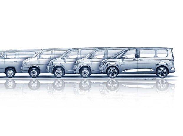 VW T7 und seine Vorgänger