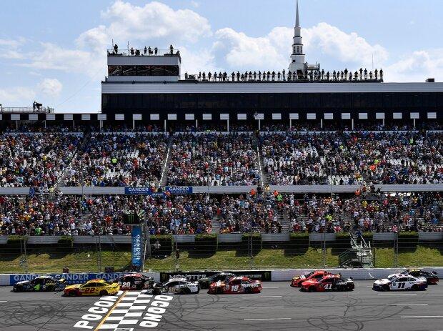 Start zum NASCAR-Rennen 2019 auf dem Pocono Raceway