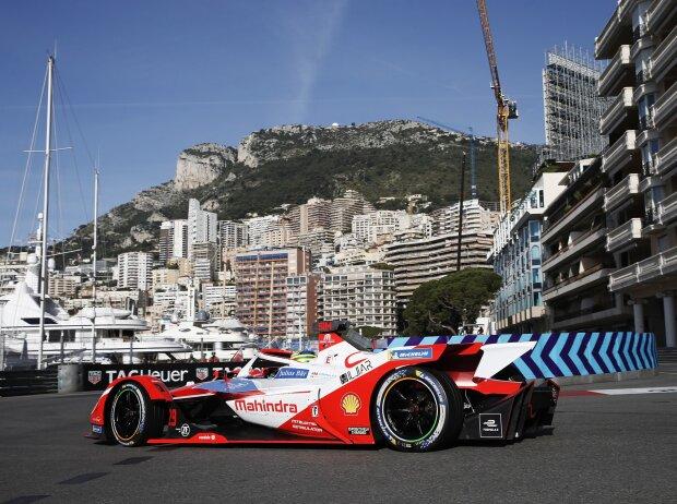Alexander Sims (Mahindra) in der Hafenschikane des Formel-E-Kurses von Monaco