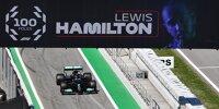 Lewis Hamilton, 100. Poleposition in Barcelona
