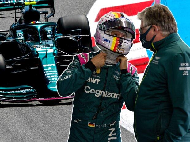 Sebastian Vettel und Otmar Szafnauer
