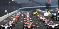 Symbolische Startaufstellung für das 104. Indy 500 im August 2020