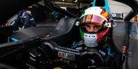 Alessio Deledda sitzt in einem Formel-2-Auto