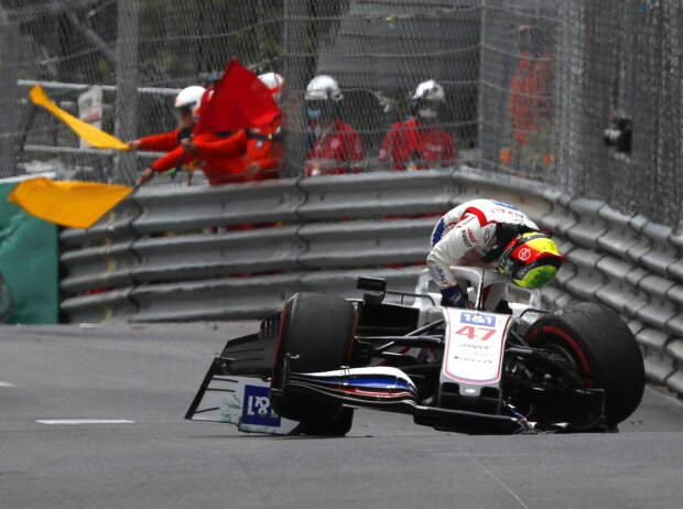 Mick Schumacher, Unfall in Monaco