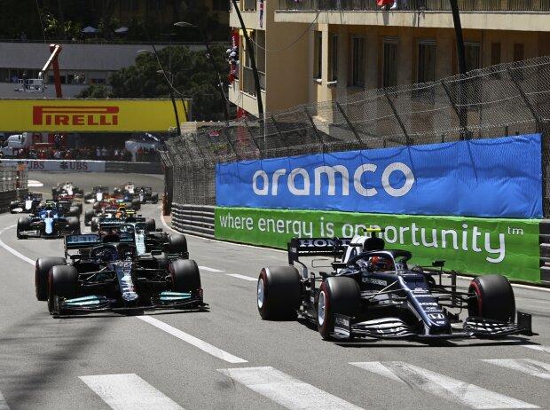 Pierre Gasly, Lewis Hamilton, Sebastian Vettel