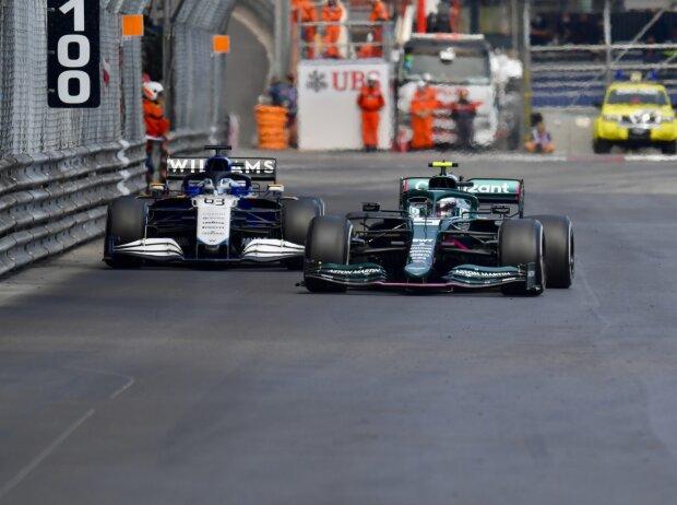 Sebastian Vettel, George Russell