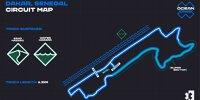 Streckenskizze für den Ozean-X-Prix der Extreme E 2021
