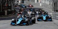 Start des ersten Sprintrennens der Formel 2 in Monaco 2021