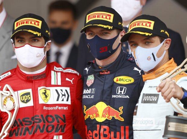Carlos Sainz, Max Verstappen, Lando Norris