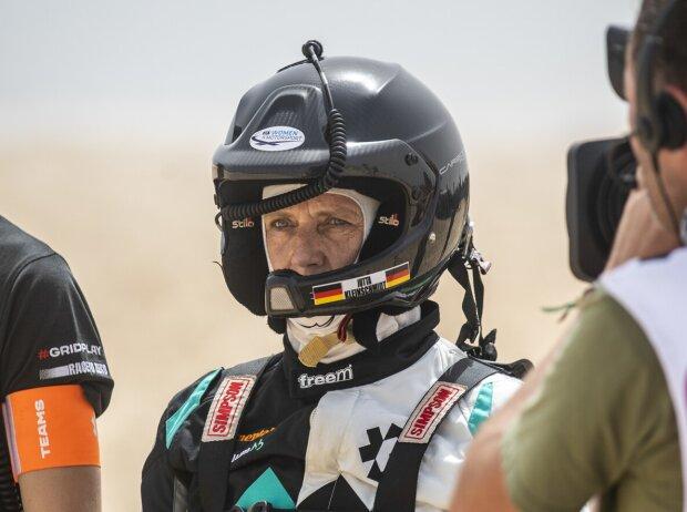 Jutta Kleinschmidt vor dem Start des ersten Qualifyings der Extreme E in Dakar