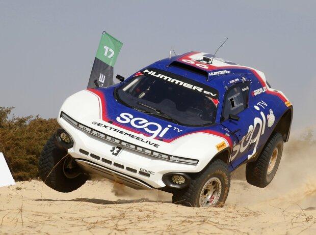 Kyle LeDuc beim Ozean-X-Prix der Extreme E im Senegal