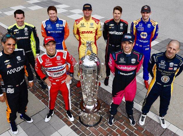 Die neun Indy-500-Sieger im Starterfeld für das 105. Indy 500 am Sonntag, 30. Mai