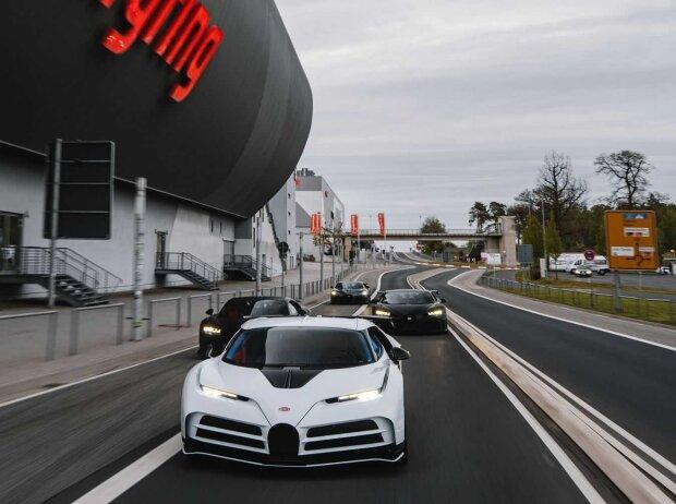 Bugatti Centodieci und Bugatti Chiron Super Sport 300+ auf der Nordschleife