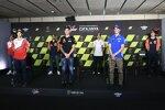 Jorge Martin (Pramac), Johann Zarco (Pramac), Miguel Oliveira (KTM), Fabio Quartararo (Yamaha), Marc Marquez (Honda), Joan Mir (Suzuki) und Remy Gardner (KTM Ajo)