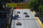 Lando Norris (McLaren), Valtteri Bottas (Mercedes), Sergio Perez (Red Bull) und Lewis Hamilton (Mercedes)