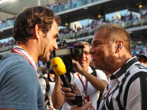 Roger Federer will be interviewed by Kai Ebel (RTL) at the 2016 World Cup final in Abu Dhabi
