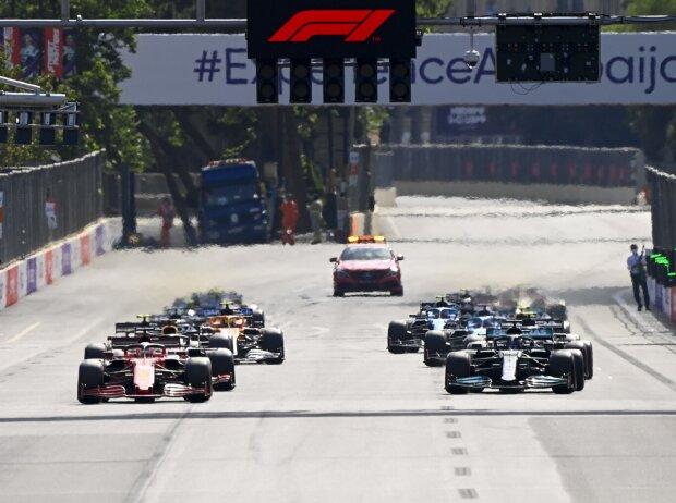 Charles Leclerc, Lewis Hamilton, Max Verstappen