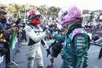 Pierre Gasly (AlphaTauri) und Sebastian Vettel (Aston Martin)