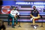 Sebastian Vettel (Aston Martin) und Sergio Perez (Red Bull)