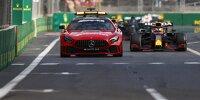 Max Verstappen hinter dem Safety-Car beim Grand Prix von Aserbaidschan 2021