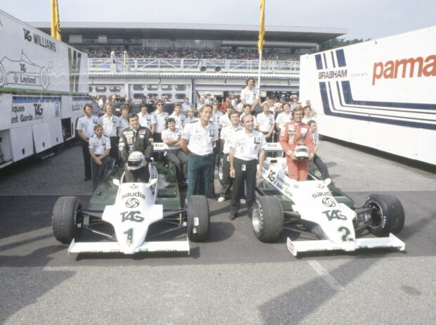 Carlos Reutemann, Karim Ojjeh, Frank Williams, Patrick Head
