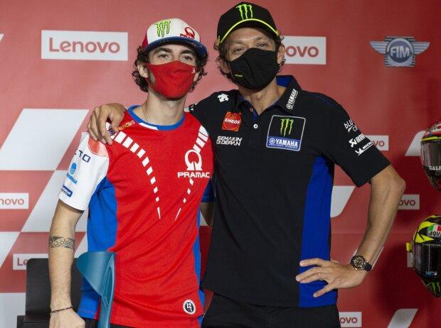 Francesco Bagnaia, Valentino Rossi