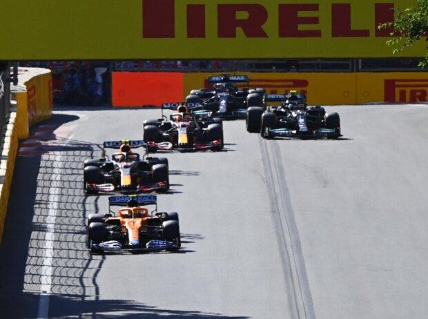 Daniel Ricciardo, Lando Norris, Sergio Perez