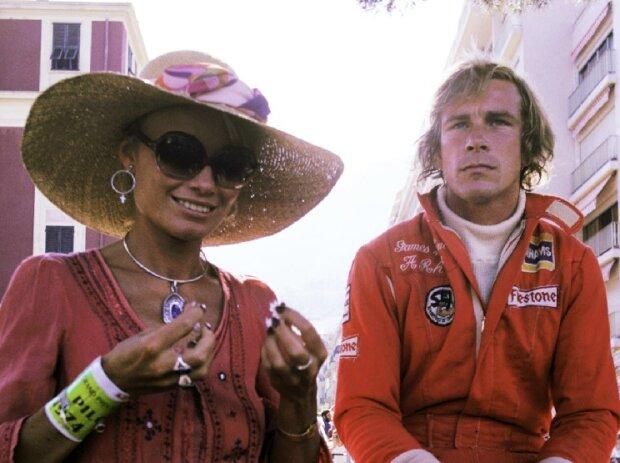 Suzy Miller und James Hunt 1974 in Monaco