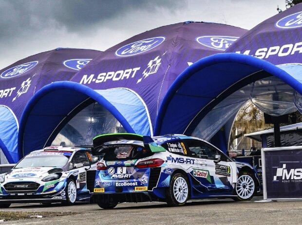 Ford Fiesta WRC von M-Sport im Service-Park