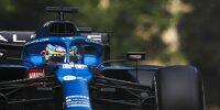 Fernando Alonso im Alpine A521 beim Aserbaidschan-Grand-Prix 2021 in Baku