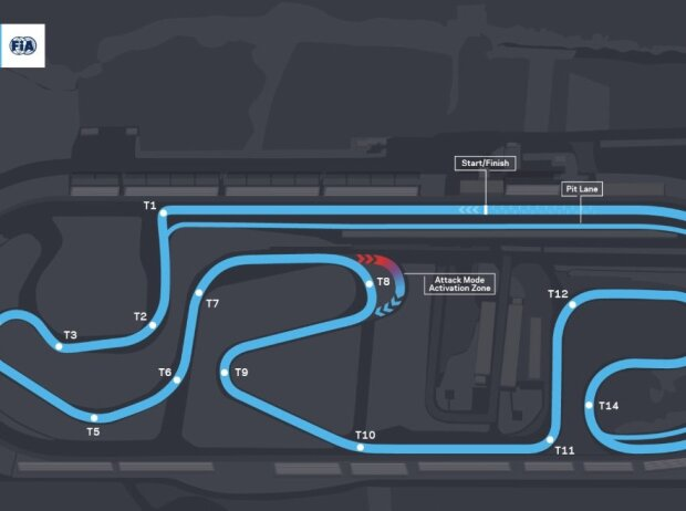 Streckenlayout für den ePrix Puebla der Formel-E-WM 2021