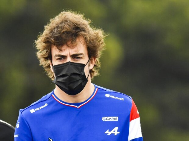 Fernando Alonso beim Trackwalk in Le Castellet