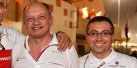 Beat Zehnder, Frederic Vasseur und Luca Furbatto von Alfa Romeo