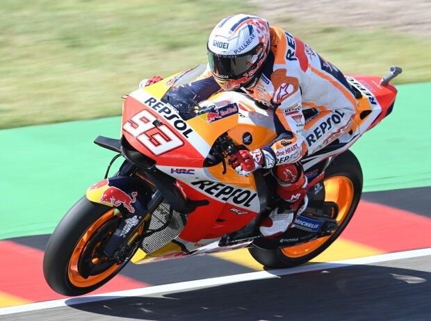 Honda-Pilot Marc Marquez auf dem Sachsenring