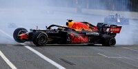 Max Verstappen mit Unfall nach Reifenschaden beim Aserbaidschan-Grand-Prix 2021 in Baku