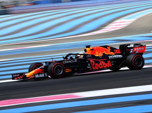Max Verstappen im Freitagstraining zum Grand Prix von Frankreich in Le Castellet (Paul Ricard) 2021