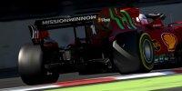 Die Mission-Winnow-Logos von Philip Morris am Ferrari SF21 von Charles Leclerc in Baku
