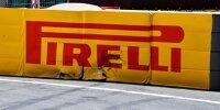 Pirelli-Logo, Werbebande nach Einschlag von Max Verstappen