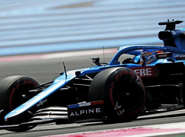 Fernando Alonso im Alpine A521 beim Frankreich-Grand-Prix 2021 in Le Castellet