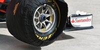 Formel-1-Reifen von Pirelli in einer Heizdecke