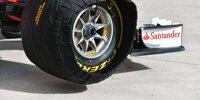 Pirelli-Formel-1-Reifen in einer Heizdecke des Ferrari-Teams beim Grand Prix der USA in Austin 2020
