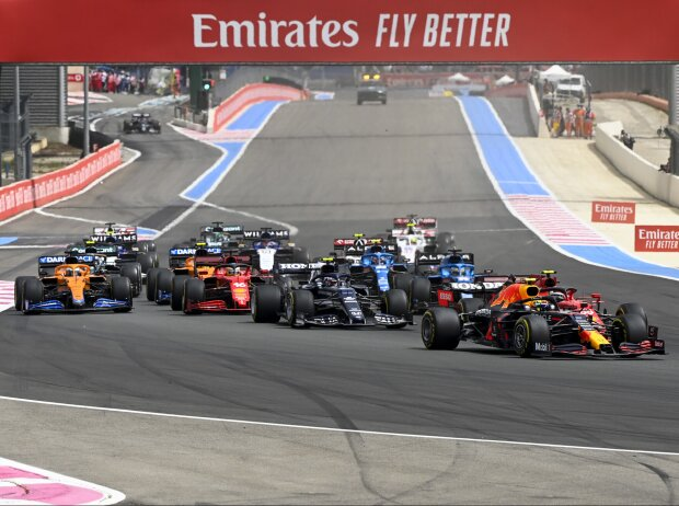 Start zum Grand Prix von Frankreich in Le Castellet (Circuit Paul Ricard) 2021