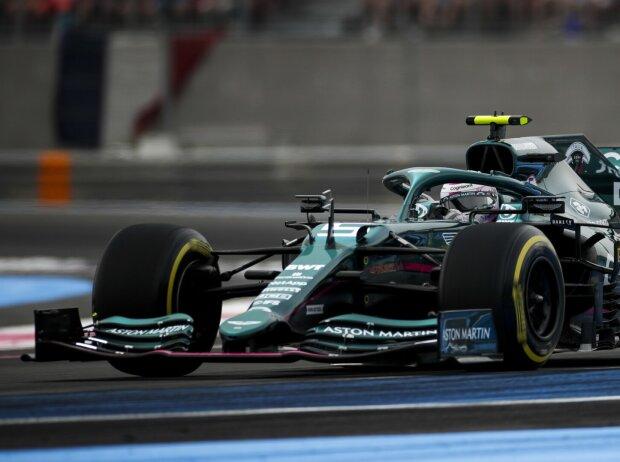 Sebastian Vettel im Aston Martin AMR21 beim Frankreich-Grand-Prix 2021 in Le Castellet