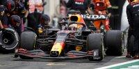 Max Verstappen (Red Bull) beim Boxenstopp beim Großen Preis von Frankreich in Le Castellet