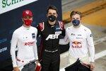 Kelvin van der Linde (Abt-Audi), Sheldon van der Linde (Rowe-BMW) und Liam Lawson (AF-Corse-Ferrari)