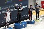 Nico Müller (Rosberg-Audi), Kelvin van der Linde (Abt-Audi) und Lucas Auer (Winward-Mercedes)