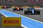 Fernando Alonso (Alpine), Daniel Ricciardo (McLaren) und Lando Norris (McLaren)
