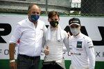 Gerhard Berger, Esteban Muth (T3-Motorsport-Lamborghini) und Lucas Auer (Winward-Mercedes)
